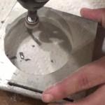 Sanding the center circle