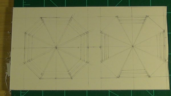 Octagon port trace outlines