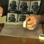 Glue strip to cone